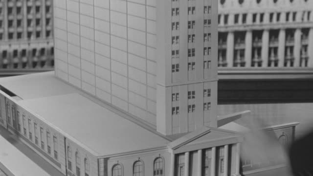 ms tu shot of skyscrapper (miniature) - architectural model stock videos and b-roll footage