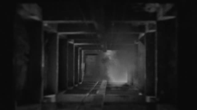 ms shot of smoke entering in mine shaft - mine shaft stock videos and b-roll footage