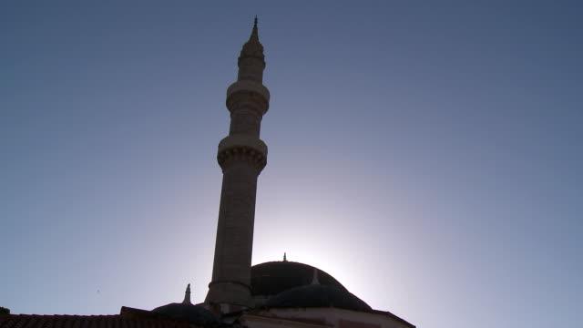 ms la shot of souleiman mosque / rhodes, dodecanese islands, greece - rhodes dodecanese islands stock videos & royalty-free footage