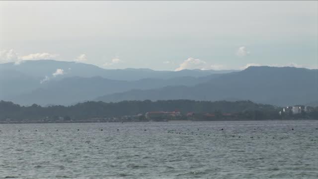 MS Shot of Speed boat / Kota Kinabalu, Sabah, Malaysia