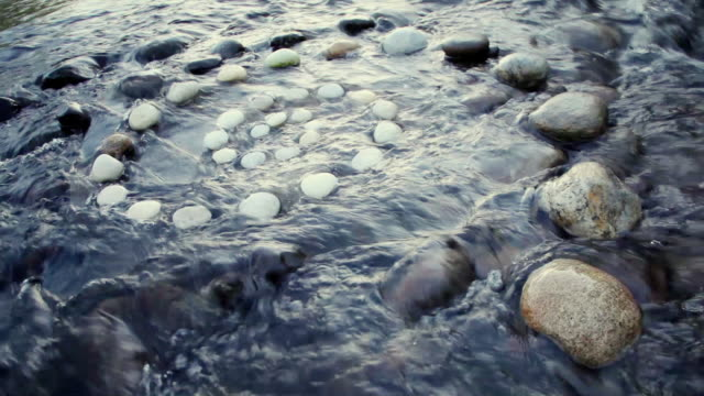 ms shot of spiral of rocks in river / stone ridge, new york, united states - wound stock videos & royalty-free footage