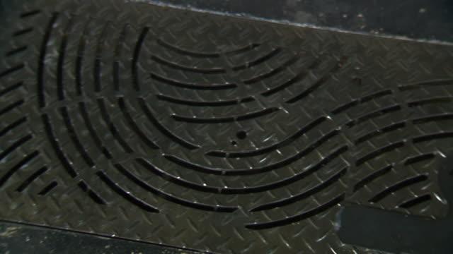 Shot of Square Manhole Cover