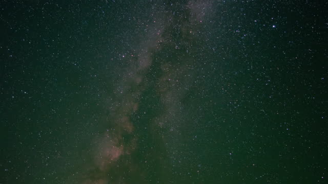 Shot of star field and milky way above Death Valley
