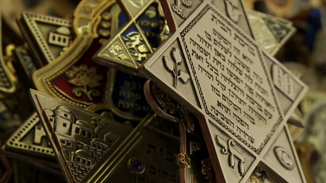 cu tu shot of star of david pendants / london, united kingdom  - symbol stock videos & royalty-free footage
