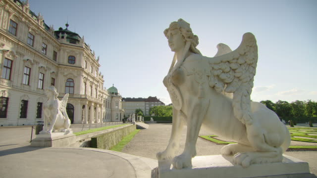 cu shot of statue / vienna, austria - rappresentazione di animale video stock e b–roll