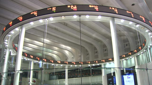 ms td shot of stock market / tokyo, japan - trading screen stock videos & royalty-free footage