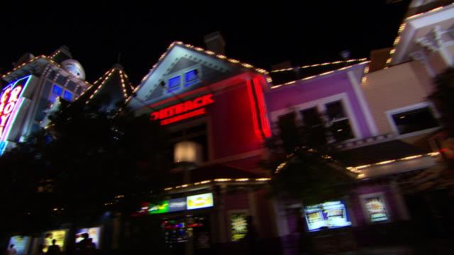 ms pov shot of street at night, mcdonalds, casino royale, venetian las vegas / las vegas, nevada, united states - casino royale stock videos & royalty-free footage