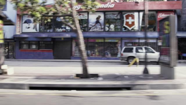 MS POV Shot of street / Caracas, Venezuela