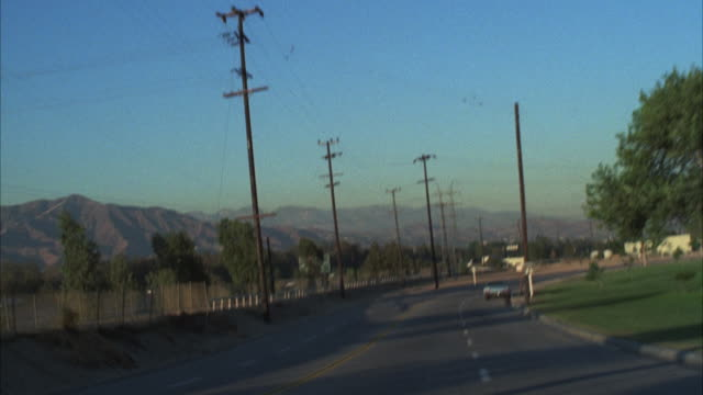 ms pov shot of street / los angeles, california, united states - archival stock videos & royalty-free footage