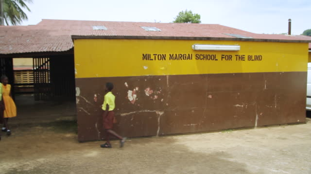 ms ts shot of students at milton margai school for blind / freetown, sierra leone - visual impairment stock videos & royalty-free footage