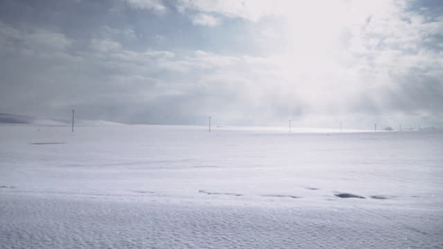 pov shot of sunny winter landscape while driving in eastern anatolia. - anatolia stock videos and b-roll footage