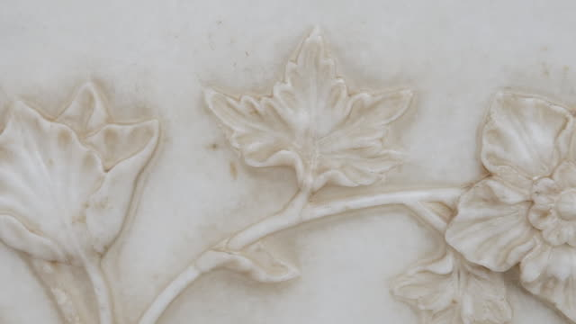 CU PAN Shot of Taj Mahal Details / Agra, Uttar Pradesh, India