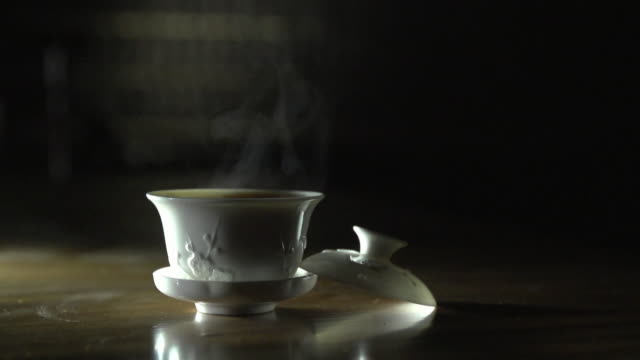 shot of tea cup - tea cup stock videos & royalty-free footage