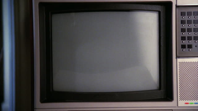 MS Shot of television