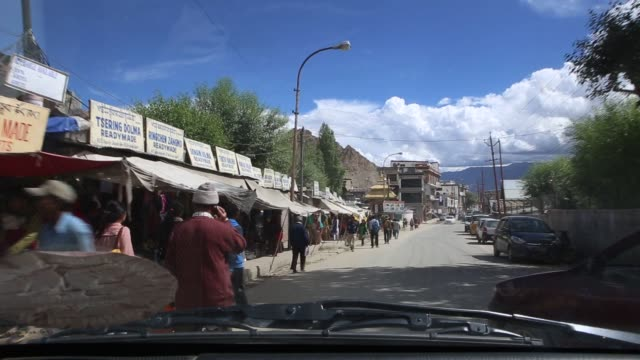 POV shot of the city of Leh India on August 10 2015