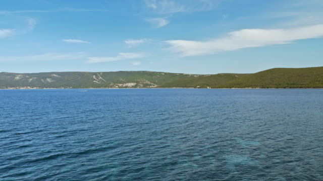 海から海岸線の空中ショット - ツレス点の映像素材/bロール