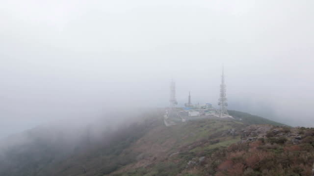 shot of the fog at chirisan national park - naturwunder stock-videos und b-roll-filmmaterial