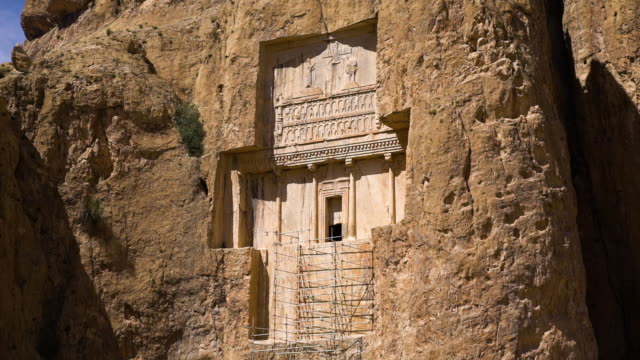 Shot of the historic  necropolis of the Persian kings
