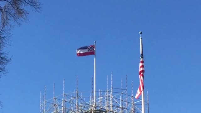 a shot of the mississippi state capitol building on march 2 2015 mississippi attorney general jim hood said he will defend the confederatethemed... - confederate flag stock videos and b-roll footage