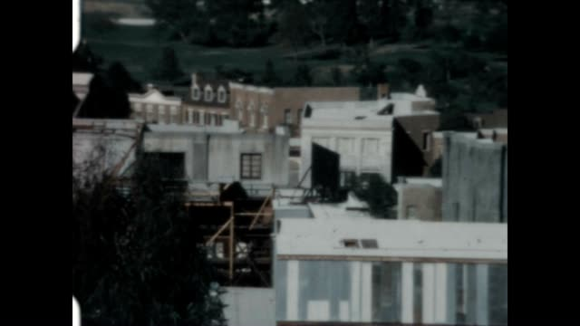 stockvideo's en b-roll-footage met shot of the universal studios back lot from a home movie collection - west hollywood
