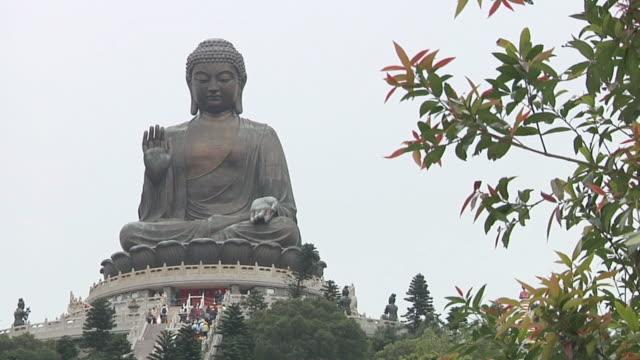 ms shot of tian tan buddha / hong kong, hong kong, china - tian tan buddha stock videos and b-roll footage