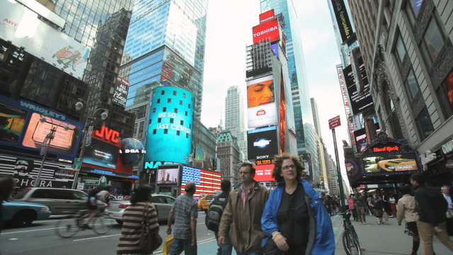 WS Shot of times square