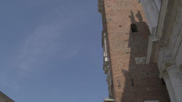 Shot of Torre di Piazza (Bissara) in Church of St. Vincent in Piazza del Duomo, Vicenza, Veneto, Italy, Europe