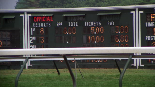 Ms Shot Of Tote Board At Monmouth Horse Race Track Stock