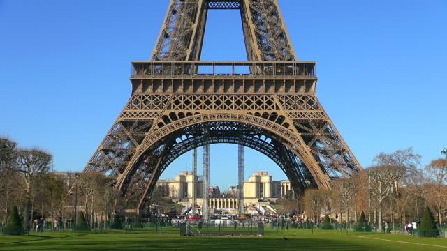 MS Shot of Tour Eiffel / Paris, Ile de France, France