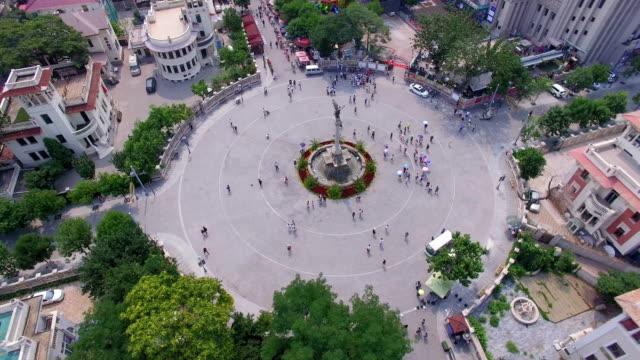 aerial shot of tourists in tourist area/tianjin,china - 新疆ウイグル自治区点の映像素材/bロール