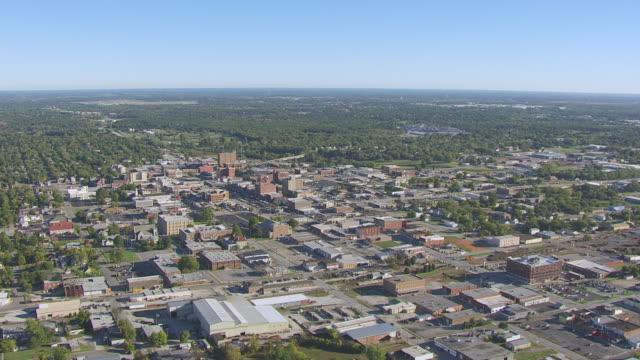 ms aerial shot of town / joplin, missouri, united states - missouri stock videos & royalty-free footage