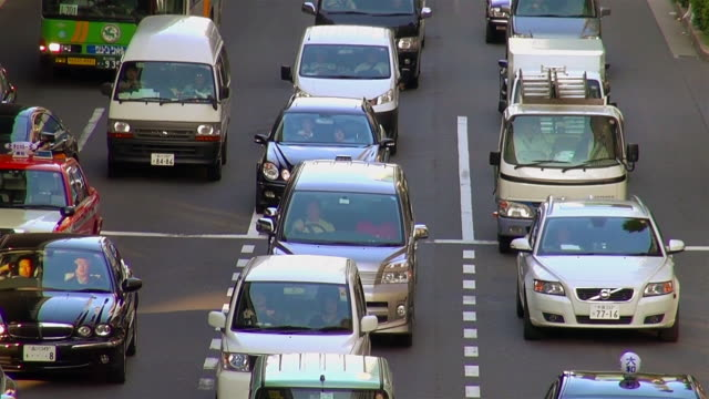 ms shot of traffic jam / tokyo, japan - traffic jam stock videos & royalty-free footage