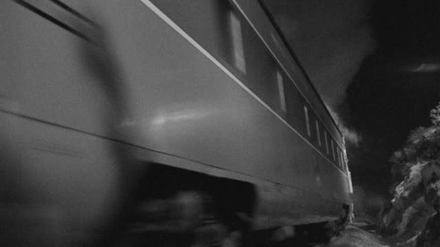 ms shot of train passing by - moving past stock videos & royalty-free footage