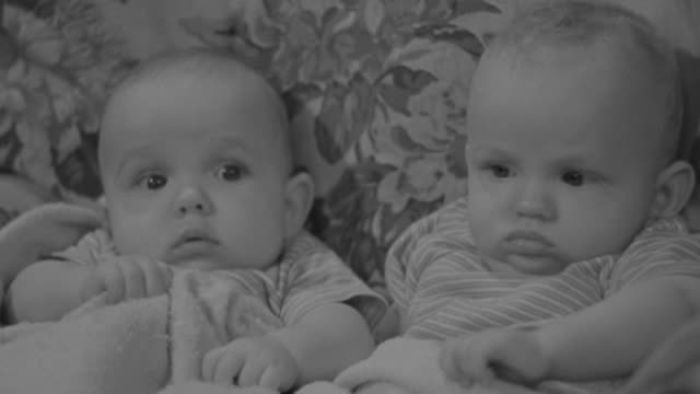 CU Shot of two baby playing