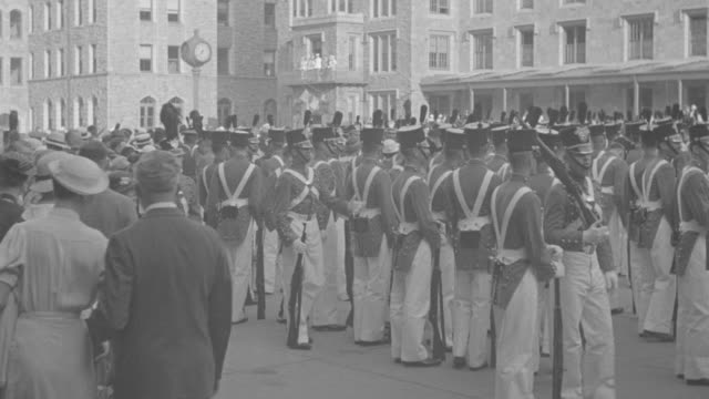 ws shot of  united states corps of cadets  standing at   at west point  - cadet stock videos & royalty-free footage
