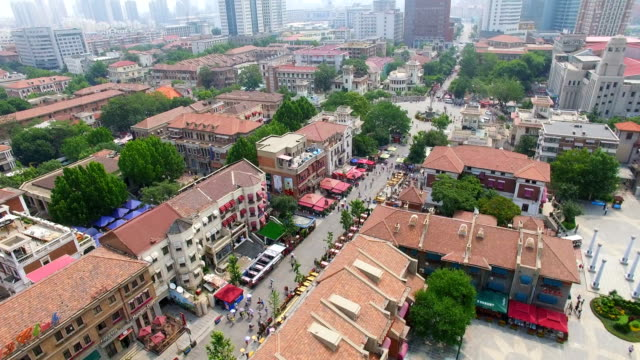 aerial shot of urban cityscape/tianjin,china - tianjin stock videos & royalty-free footage