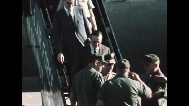 shot of us army officials arriving in vietnam to investigate the alleged my lai massacre - us military stock videos & royalty-free footage