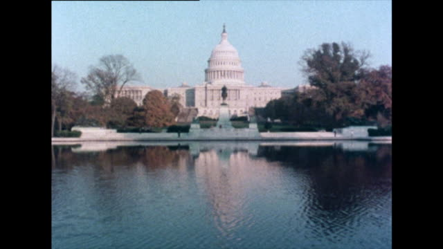 vídeos y material grabado en eventos de stock de shot of u.s. capitol building, washington d.c. in 1976 - united states congress