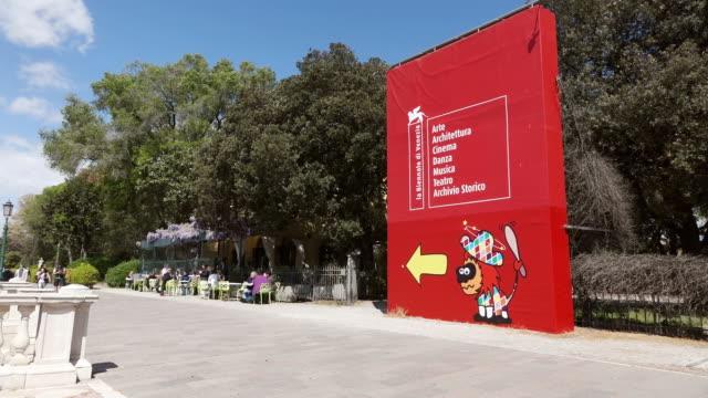 WS Shot of Viale Giardini Public, Biennale / Venice, Veneto, Italy