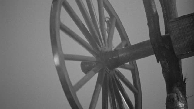 ecu pan shot of wagon wheel to bell - wheel stock videos and b-roll footage