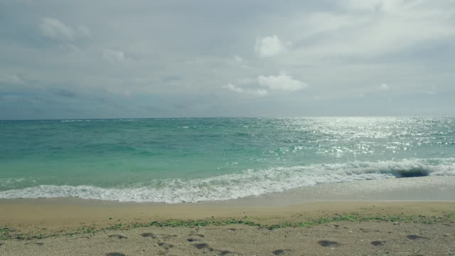 pov shot of walking on the beach.looking waves. - okinawa stock videos and b-roll footage