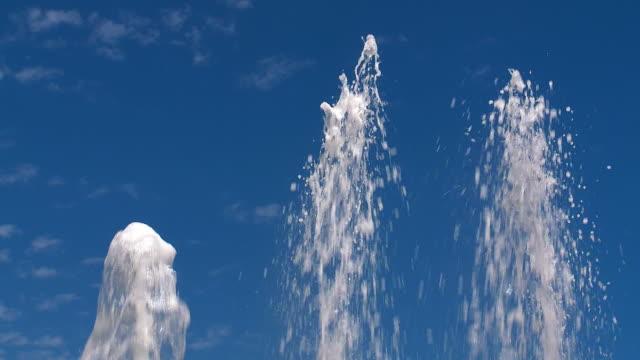 ms shot of water spout / san pedro alcantara, malaga, spain - みずみずしい点の映像素材/bロール