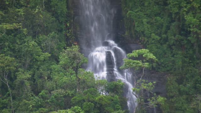 ms aerial shot of waterfall / bahia, brazil - bahia state stock videos & royalty-free footage