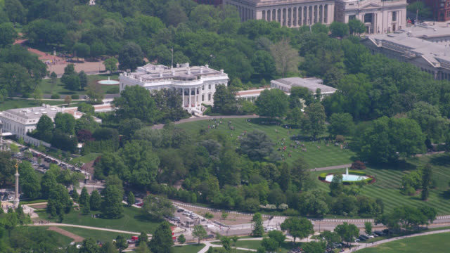 """ws aerial shot of white house  / washington dc, united states"" - white house washington dc stock videos & royalty-free footage"