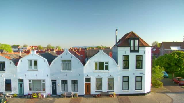 MS Shot of white houses / Vlissingen, Wallcheren