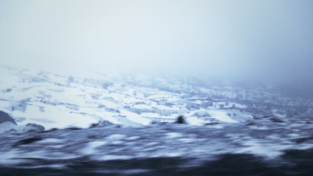pov shot of winter landscape while driving on a dirt road in eastern anatolia. - anatolia stock videos and b-roll footage