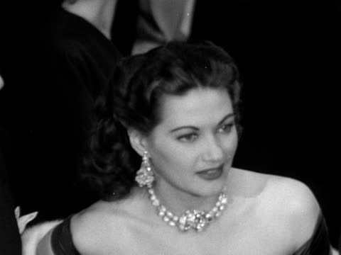 a shot of yvonne de carlo and rock hudson at the royal command performance of because you're mine 1952 - glamour stock videos & royalty-free footage