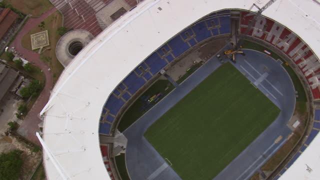CU AERIAL ZO DS Shot over Olympic stadium / Rio de Janeiro, Brazil