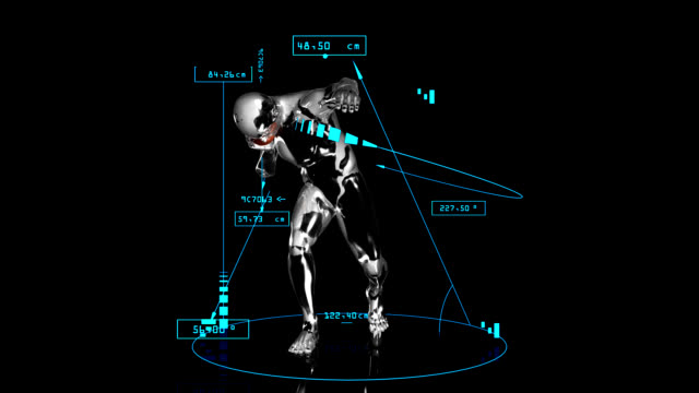 3d shot put man with technical data - shot put stock videos & royalty-free footage