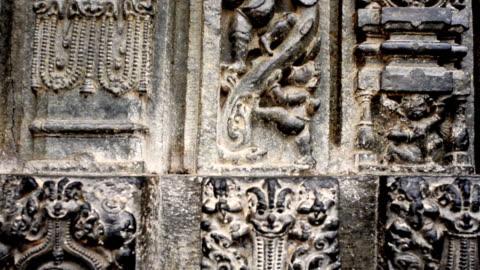 ms tu shot showing details of carved statues at hindu konark sun temple / puri, orissa, india - female likeness stock videos & royalty-free footage